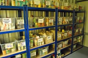 Foodbank shelves