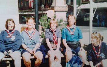 Me and fellow Rangers, Switzerland 1994