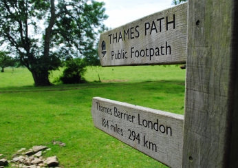 Thames Path sign