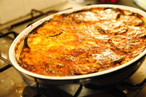 beef and butternut squash moussaka