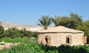 A hut made of mud in a Palestinian Village in the Jordan Valley